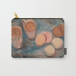 Cafe Au lait and French Macrons Carry-All Pouch