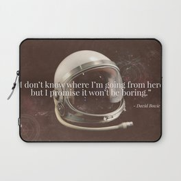 """""""I Don't Know Where I'm Going"""" Bowie Tribute Laptop Sleeve"""