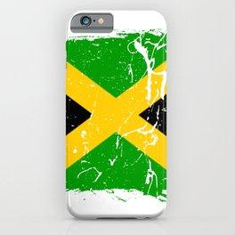 Distressed Jamaica Flag Graffiti iPhone Case