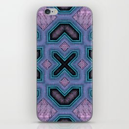 Victorian Art Deco Medieval Pattern colorful SB32 iPhone Skin