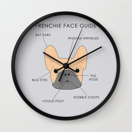 The French Bulldog Face Guide Wall Clock
