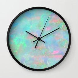 Rainbow Opal Wall Clock