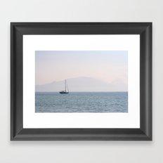 Yacht, Keri Beach Framed Art Print