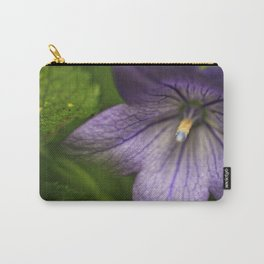 Purple Floral Sensuality Carry-All Pouch