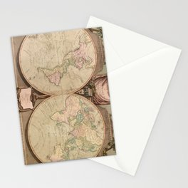 Vintage Map of The World (1808) Stationery Cards