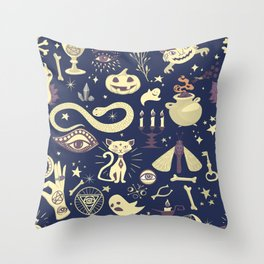 Halloween Magic Throw Pillow
