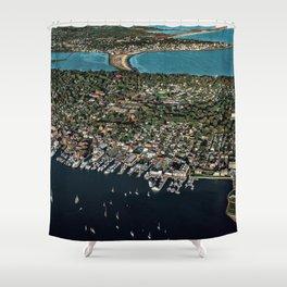 Newport Harbor, Aquidneck Island - Rhode Island Shower Curtain