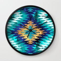 Inverted Navajo Suns Wall Clock