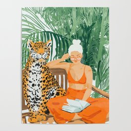 Jungle Vacay #painting #illustration Poster