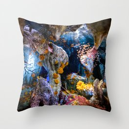 Enchanted Caves Throw Pillow