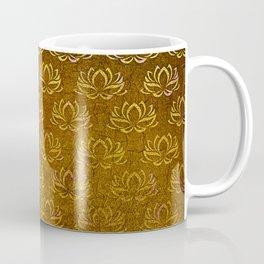 Antique Gold Lotus Flower Pattern Coffee Mug