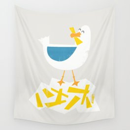 Hungry Seagull Wall Tapestry