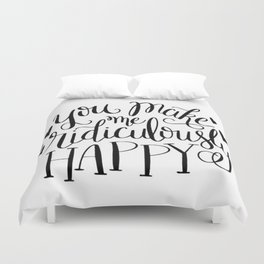 Ridiculously Happy Duvet Cover