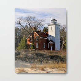 40 Mile Point Lighthouse Metal Print