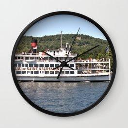Lac du Saint Sacrement Steamboat Wall Clock