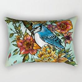 Birdsong by artist Sarah Bliss Rasul Rectangular Pillow