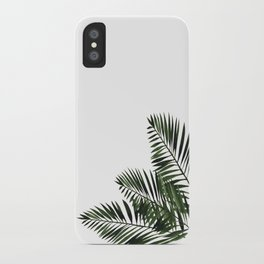 Tropical Exotic Palm Leaves I iPhone Case