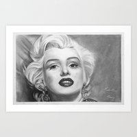 monroe Art Prints featuring Monroe by Tufty Cookie