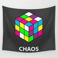 chaos Wall Tapestries featuring Chaos by Dizzy Moments