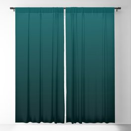 Gradient Collection - Deep Teal Turquoise - Accent Color Decor - Lowest Price On Site Blackout Curtain