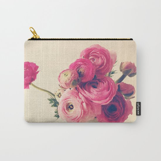 Cottage Flowers Carry-All Pouch