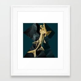 Catch the golden fish Framed Art Print