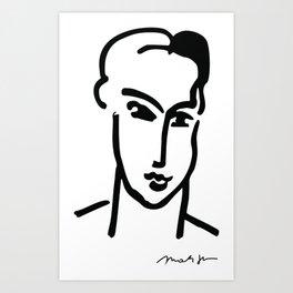 "Henri Matisse: ""Grande Tete de Katia"" Poster Galerie Maeght Paris 1964, Henri Matisse-Katia-1964 Pos Art Print"