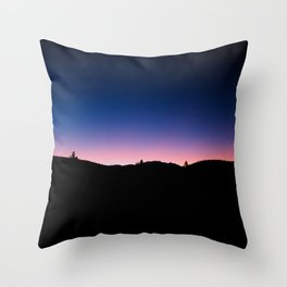 Pink blue sky Throw Pillow