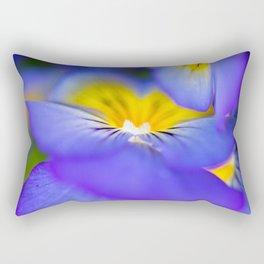 Pansy Abstract Rectangular Pillow