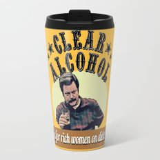 Clear Alcohol is for Rich Women on Diets!  |  Ron Swanson Travel Mug