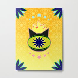 Flaming Feline Eye Metal Print