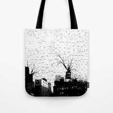 NYC splatterscape Tote Bag
