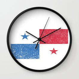 Panama Flag Vintage Panamanian National Country Gift Wall Clock