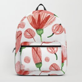Red flowers Nature Backpack