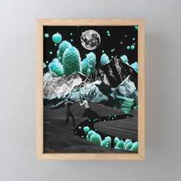 Jumping into another world Framed Mini Art Print