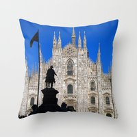 milan Throw Pillows featuring Milan by Kallian