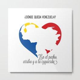 Venezuela. En el pecho, arriba y a la izquierda Metal Print