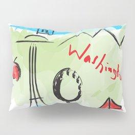 City scape - Seattle, Washington Pillow Sham