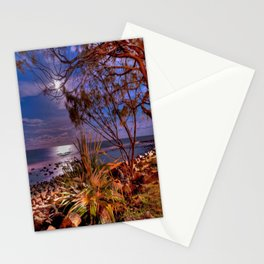 The Beach Side After Sunset Stationery Cards