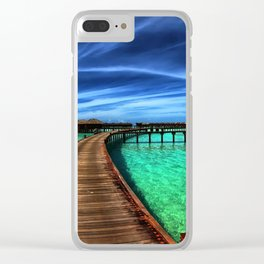 Stilt Bungalows In Mauritius Holiday Resort Ultra HD Clear iPhone Case