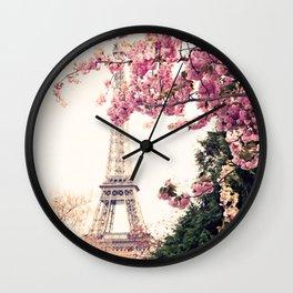 Paris in April, April in Paris Wall Clock