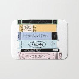 Jane Austen Book Stack in Colour Bath Mat