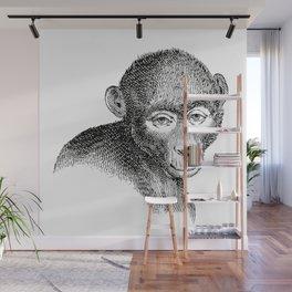 Vintage Illustration, A Monkey Wall Mural