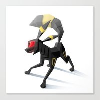 umbreon Canvas Prints featuring Umbreon by Versiris