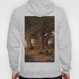 Hans Gude Painting -  Under Eketreet 1858  | Reproduction | Norwegian Art Hoody
