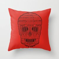 horror Throw Pillows featuring horror by creaziz
