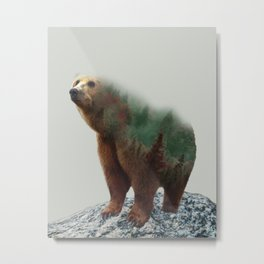 Bear Forest #socity6 #buyart #homedecor Metal Print