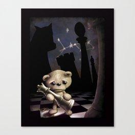 Teddy Chess Canvas Print