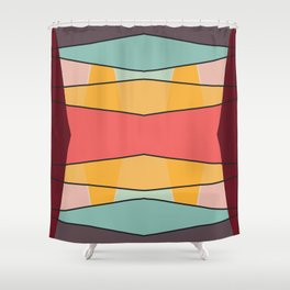 Minimal Trendy Artwork Silence Shower Curtain