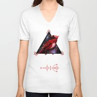 cardinal V-neck T-shirts featuring Cardinal by MyArti